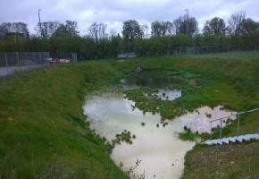 Oxford Balancing Pond After Hydroseeding